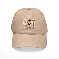 Peace Love Dermatology Baseball Cap