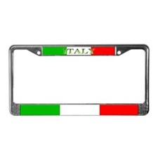 Italy Italian Flag License Plate Frame