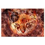 Wood Cat Large Poster