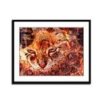 Wood Cat Framed Panel Print