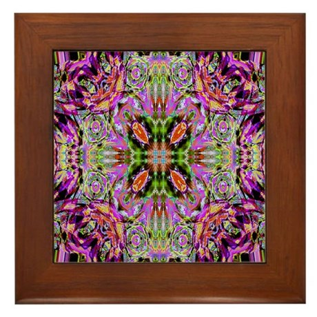Kaleidoscope Framed Tile