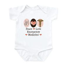 Peace Love ER Doctor Infant Bodysuit