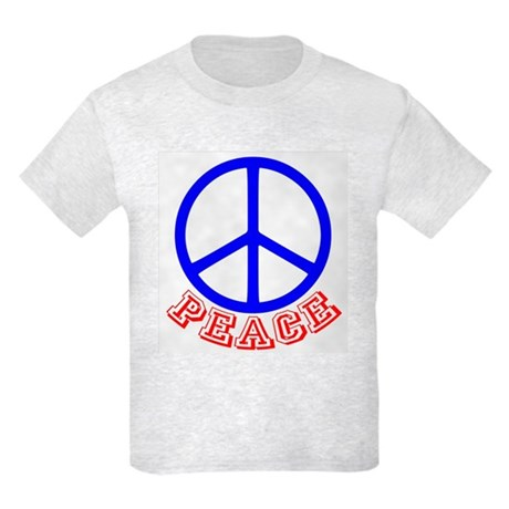 Peace Symbol v9 Kids Light T-Shirt