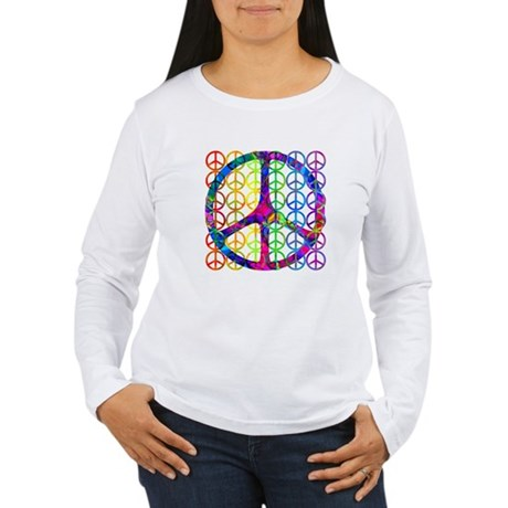 Rainbow Peace Symbols Women's Long Sleeve T-Shirt