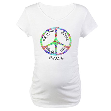 Live Peace Maternity T-Shirt