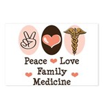 Peace Love Family Medicine Postcards (Package of 8