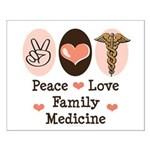 Peace Love Family Medicine Small Poster