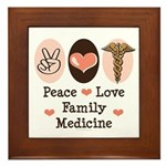 Peace Love Family Medicine Framed Tile