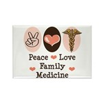 Peace Love Family Medicine Rectangle Magnet (100 p