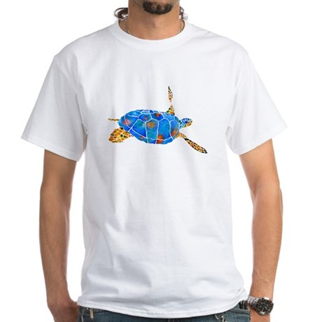 Sea Turtle 2 White T-Shirt