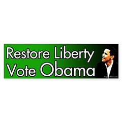Restore Liberty Vote Obama bumper sticker