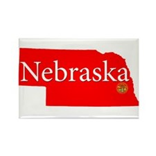 Cute Nebraska Rectangle Magnet (100 pack)