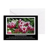 Determination Motivational Greeting Card