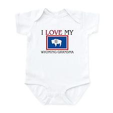 I Love My Wyoming Grandma Infant Bodysuit