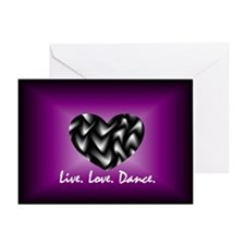 Live, Love, Dance Greeting Card