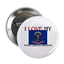 "I Love My North Dakota Grandma 2.25"" Button (10 pa"