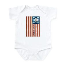 Lincoln Flag Infant Bodysuit