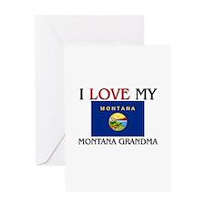 I Love My Montana Grandma Greeting Card