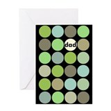 mod dots (dad) Greeting Card