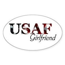 USAF Girlfriend (Flag) Oval Decal