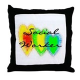 Social worker Throw Pillows