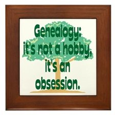 Genealogy Obsession Framed Tile