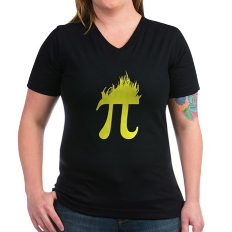 Hair Pi Womens V-Neck T-Shirt