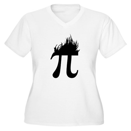Hair Pi Plus Size V-Neck Shirt