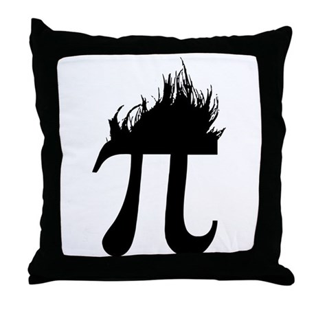 Hair Pi Throw Pillow
