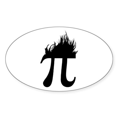 Hair Pi Oval Sticker