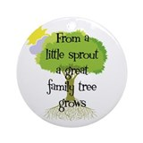 Little Sprout Ornament (Round)