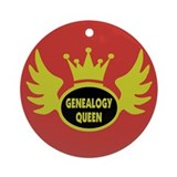 Genealogy Queen Ornament (Round)