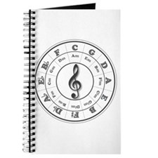Grayscale Circle of Fifths Journal