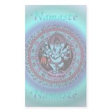 Ganesh Dancer Rectangle Sticker 10 pk)