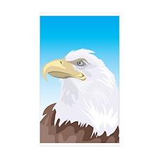 Eagle Rectangle Sticker 10 pk)