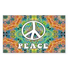 Groovy Peace Rectangle Sticker 50 pk)