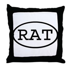 RAT Oval Throw Pillow