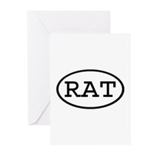 RAT Oval Greeting Cards (Pk of 20)