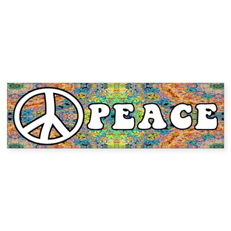 Groovy Peace Bumper Sticker