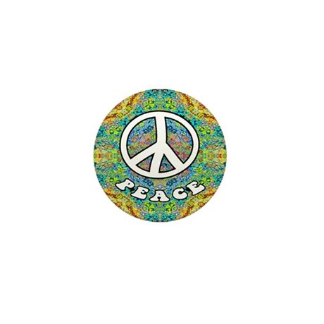 Groovy Peace Mini Button