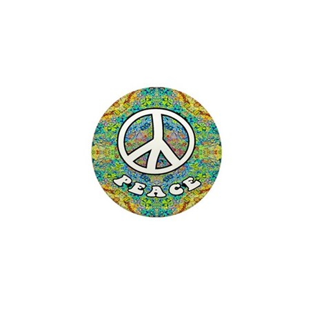 Groovy Peace Mini Button (100 pack)