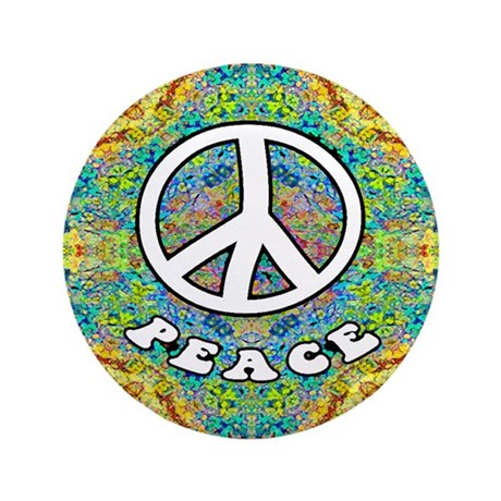 Groovy Peace 3.5&quot; Button