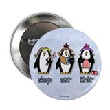 "sleep eat knit 2.25"" Button (10 pack)"