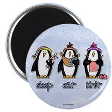 "sleep eat knit 2.25"" Magnet (100 pack)"