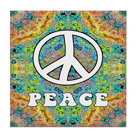 Groovy Peace Tile Coaster
