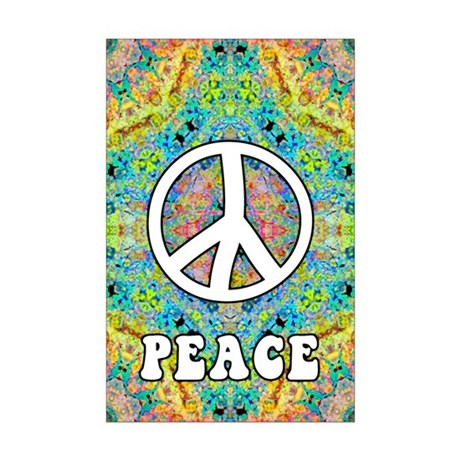 Groovy Peace Mini Poster Print