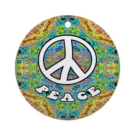 Groovy Peace Ornament (Round)