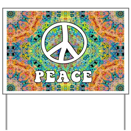 Groovy Peace Yard Sign