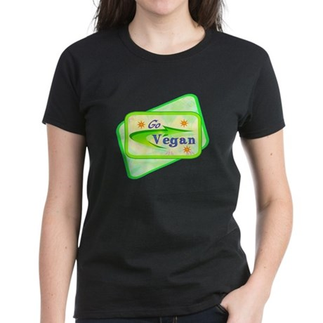 Go Vegan Women's Dark T-Shirt