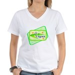Go Vegan Women's V-Neck T-Shirt